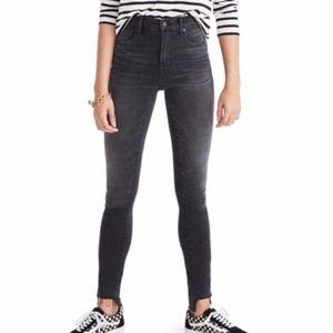 "Madewell 9"" High-Rise Skinny Jeans Raw Hem Gray 29"